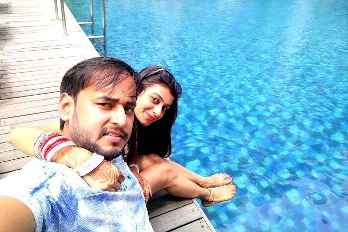 Pool side resort in Bali