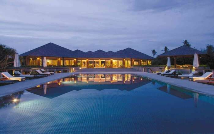 Gorgeous pool and villas at Amanpulo in Palawan Philippines