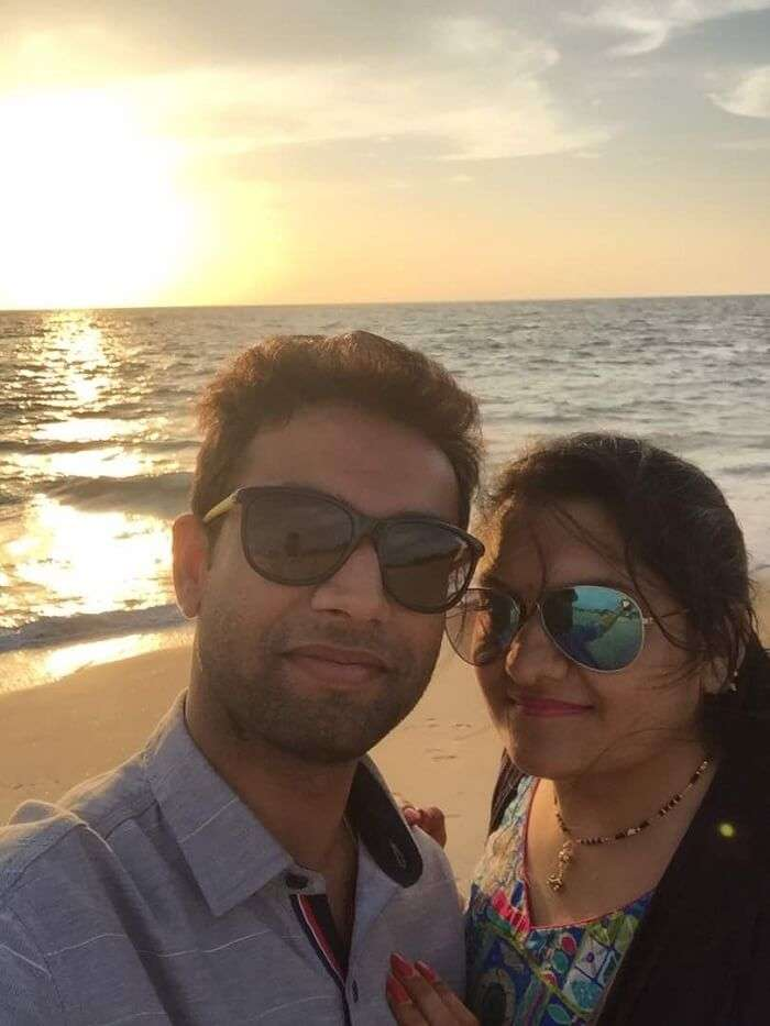 Mukul and his wife in Alleppey