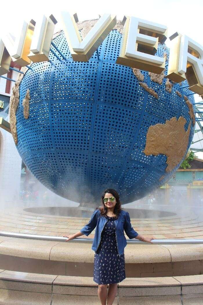 Parul at the Universal Studios