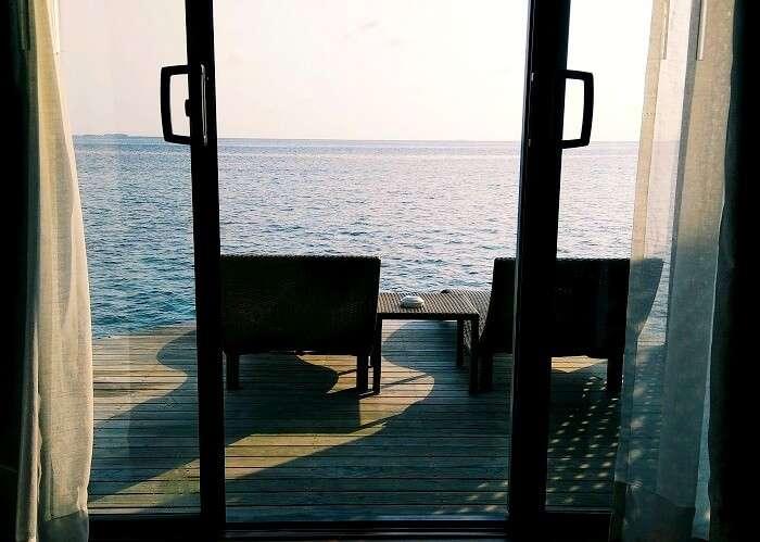 sunset villa in maldives