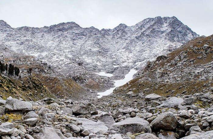 Indrahar Pass Trek View