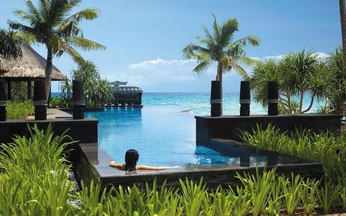 Infinity pool at Shangri-La's Boracay Resort in Philippines
