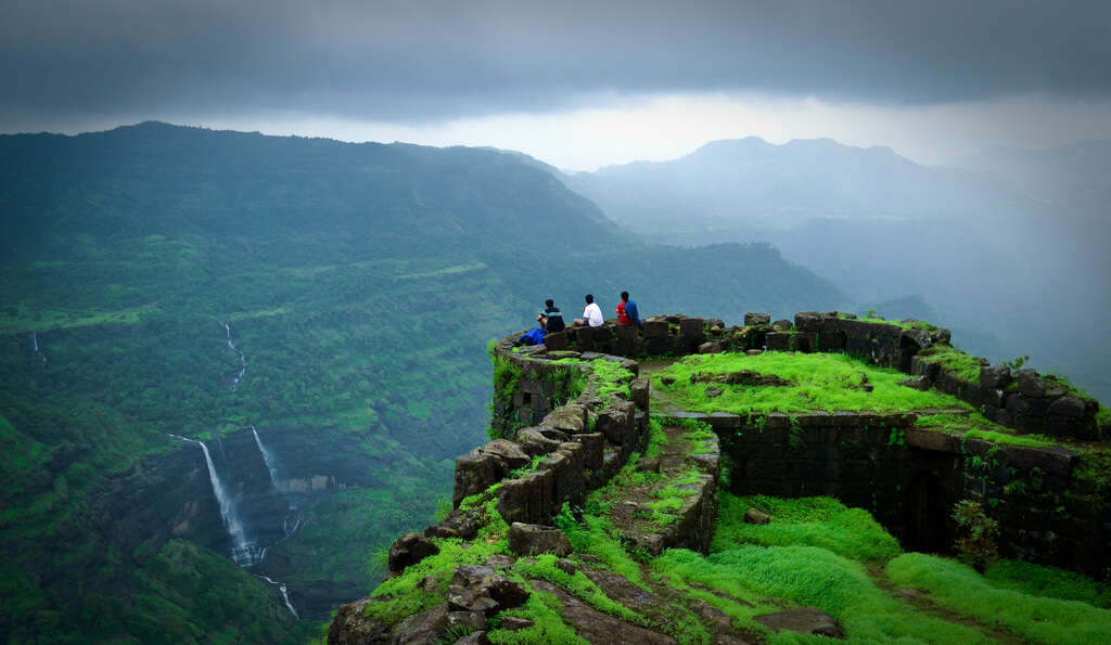 lush green Rajamachi Fort
