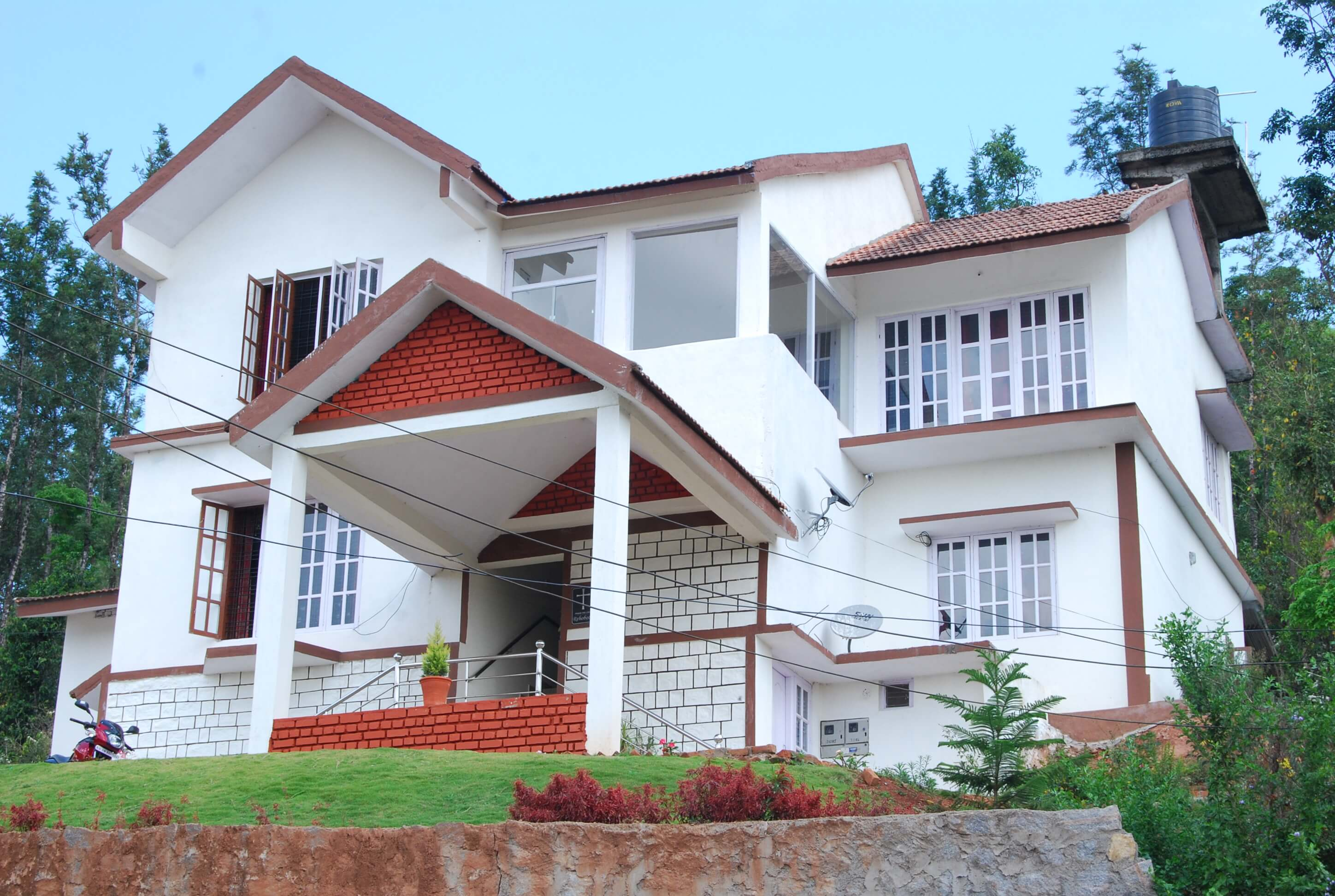 Front of a homestay in Madikeri