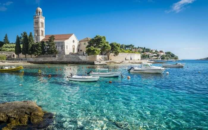 Seashore in Hvar city