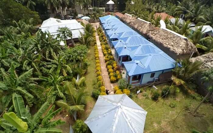 Top view of Ocean Blue Resort