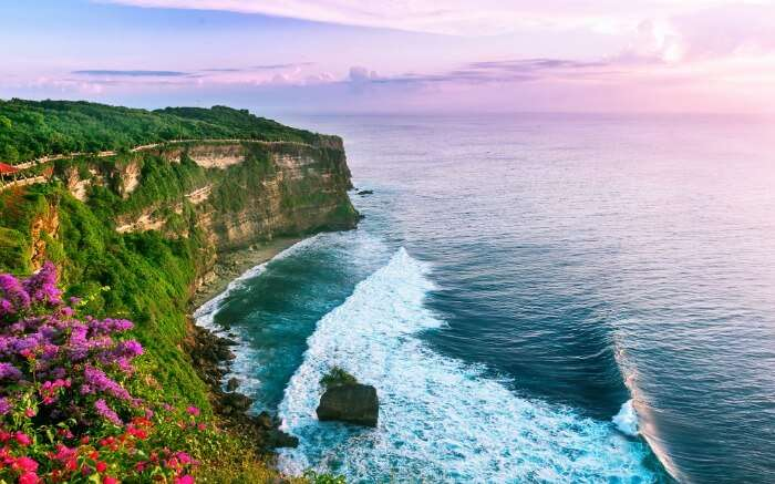 View of Uluwatu cliff
