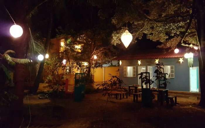 Well-lit surroundings of Casa Serendip homestay in Goa ss28062017
