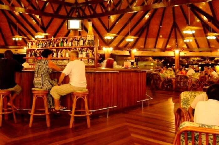 Bar at the paradise island resort and spa