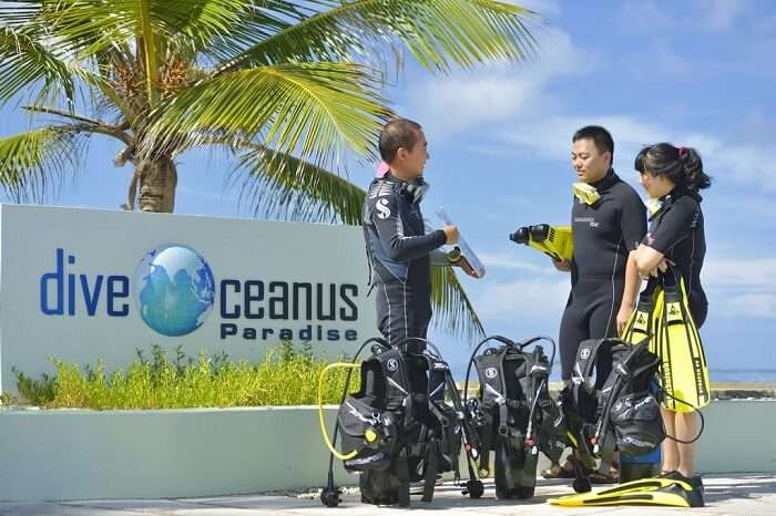 paradise island resort and spa diving