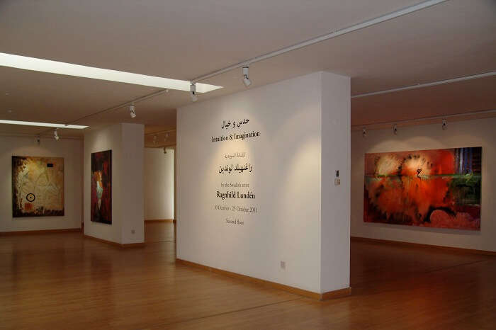 An exhibition hall at the Jordan National Gallery of Fine Arts in Amman
