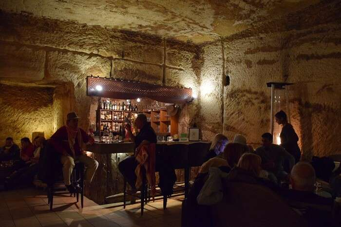 The Cave Bar in Wadi Musa in Jordan
