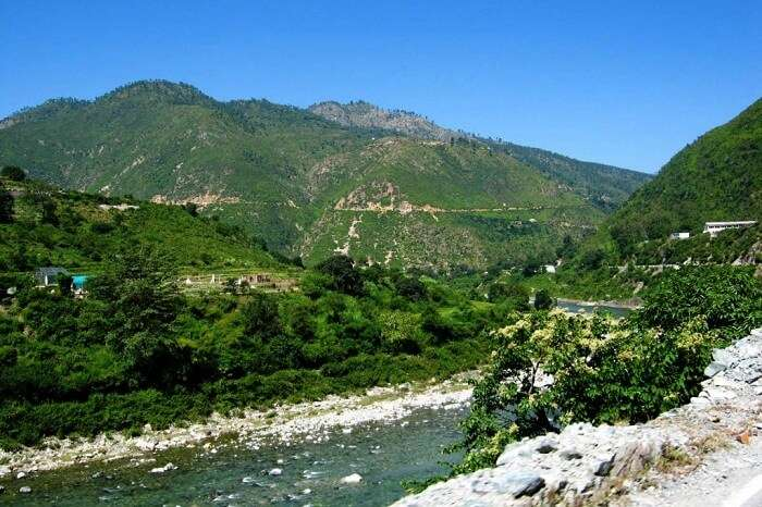 A river flowing through the valley of Ranikhet