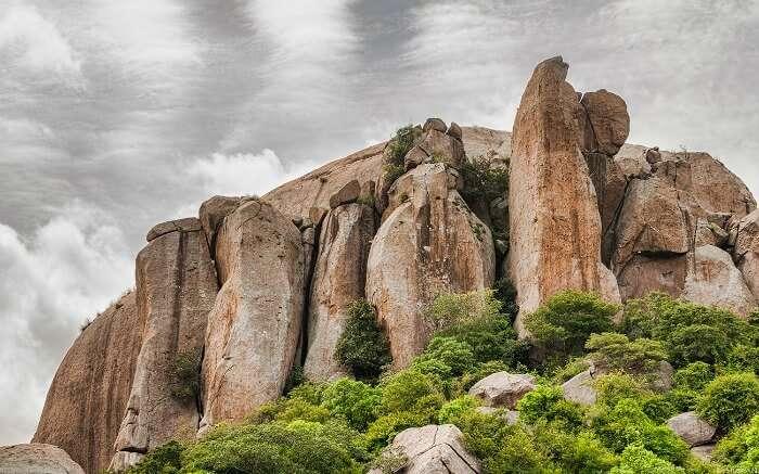 rock formation on Ramanagara hill
