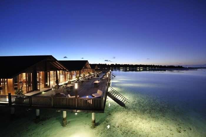 Paradise island in Maldives