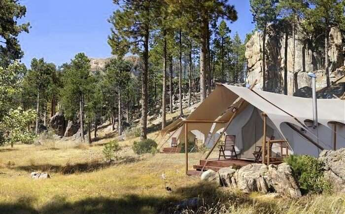Glamping in Mount Rushmore