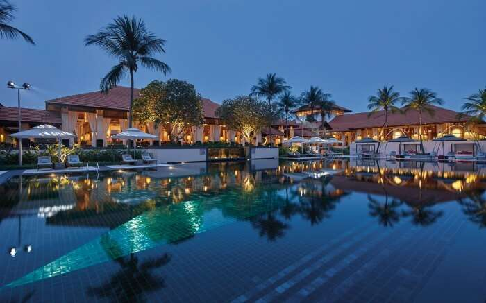 A beautiful resort with a huge outdoor pool