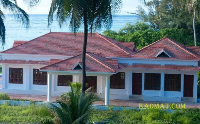 A beautiful traditional Lakshadweep style resort near sea