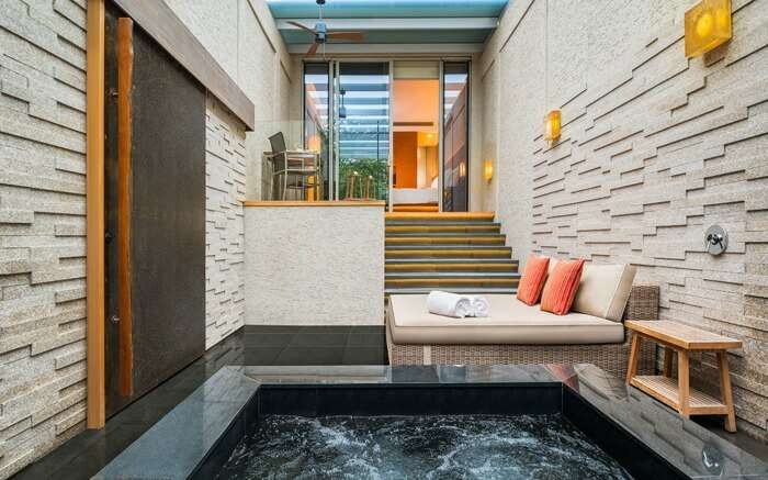 A hot swimming pool inside hotel room in Singapore 1
