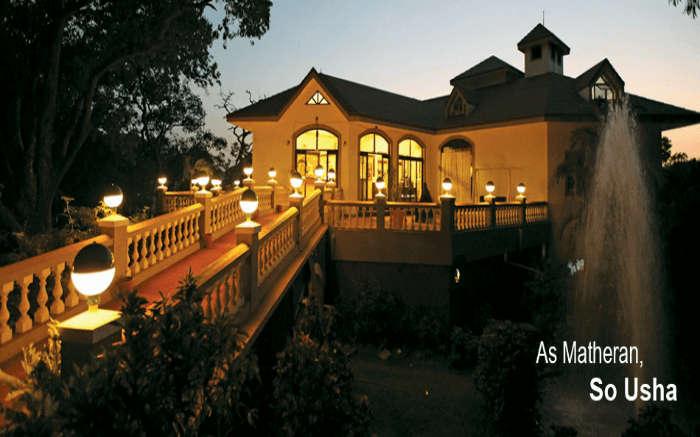 A view of Usha Ascot in Matheran at dusk