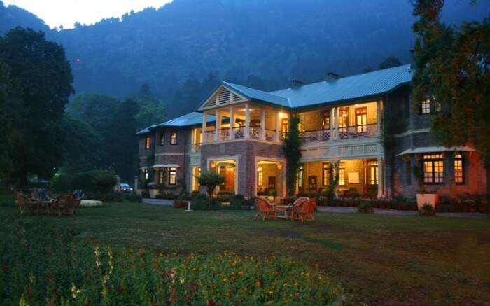 A well lit beautiful resort in Nainital