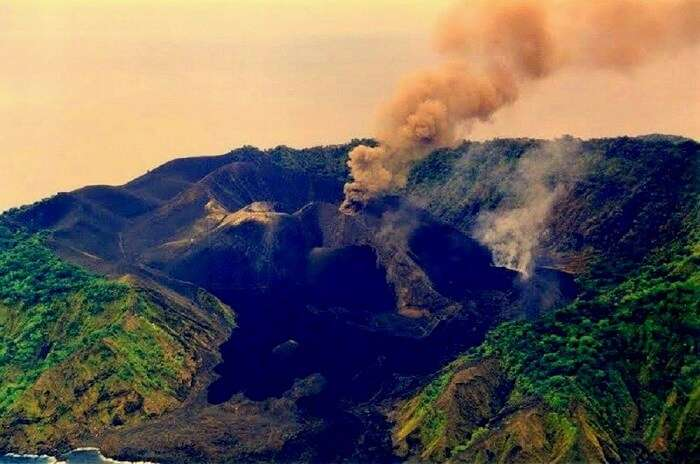 India's only active volcano in andaman