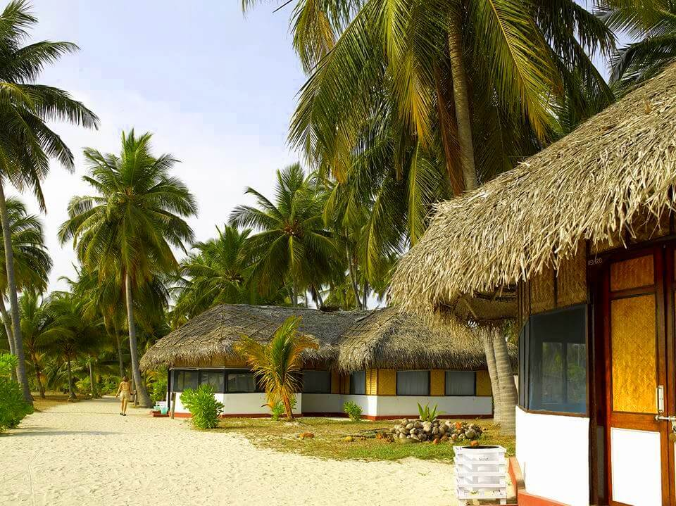 beautiful cottages on Bangaram Island