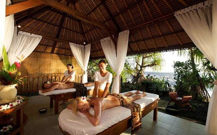 Beachside spa in Bali