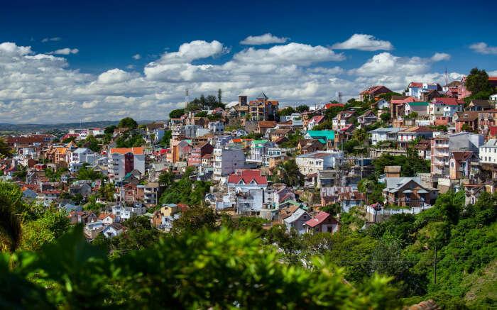 Beautiful view of Antananarivo city in Madagascar s