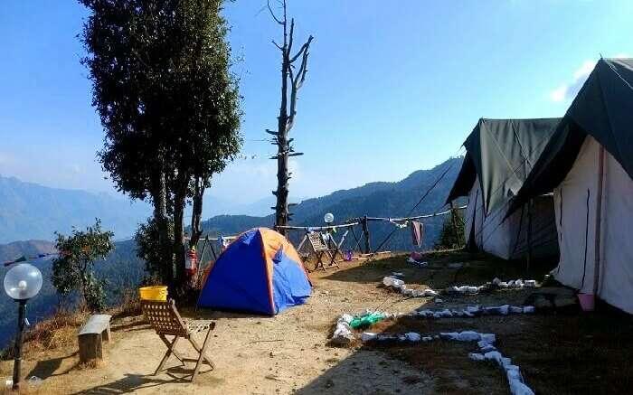 Beautiful views of surroundings at Living Kanatal Camp in Kanatal