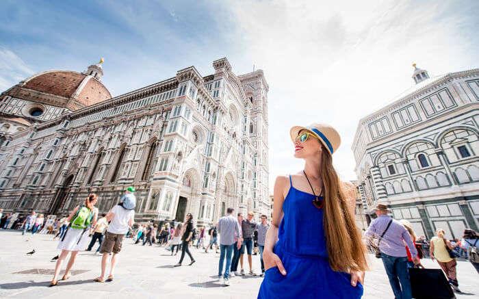 Female traveler in Florence