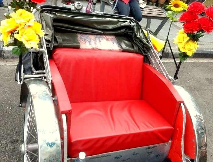 vintage trishaw ride