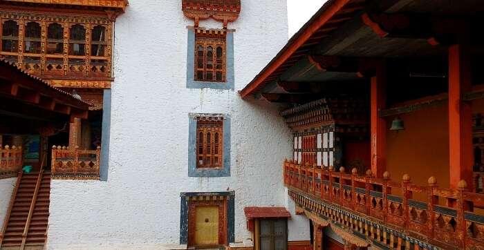 monastery interior, bhutan