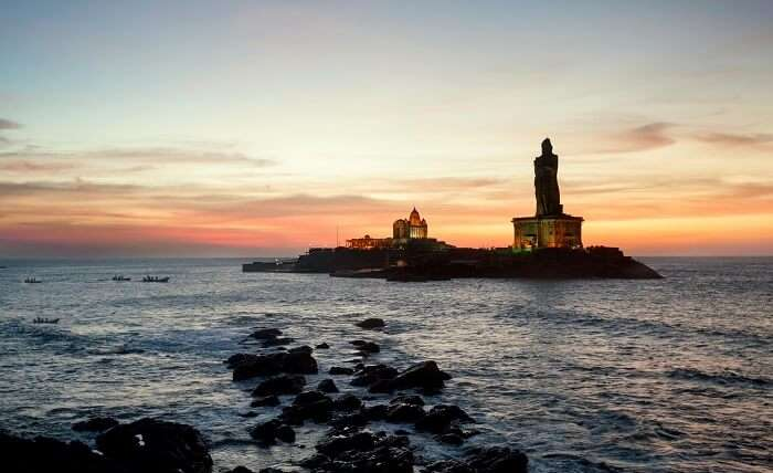 sunrise in kanyakumari