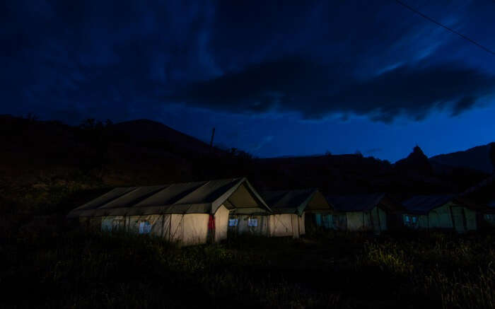 Nunkun Camps in Kargil at night