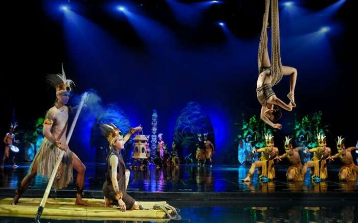 Performers in Nusa Dua Theatre
