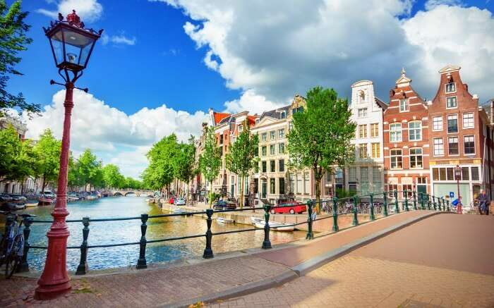 View of Amsterdam in a sunny day