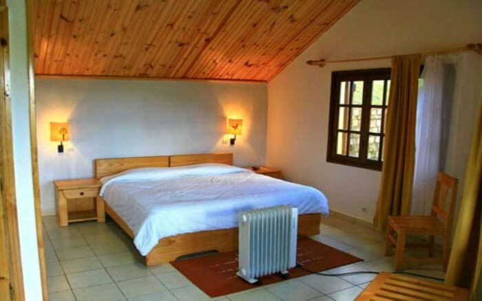 Well laid bedroom in a lodge in Madagascar