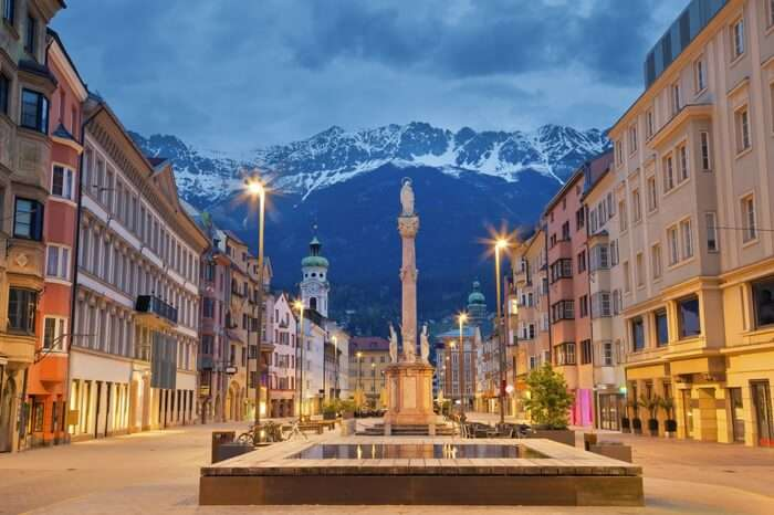 Innsbruck with the Alps in the backyard
