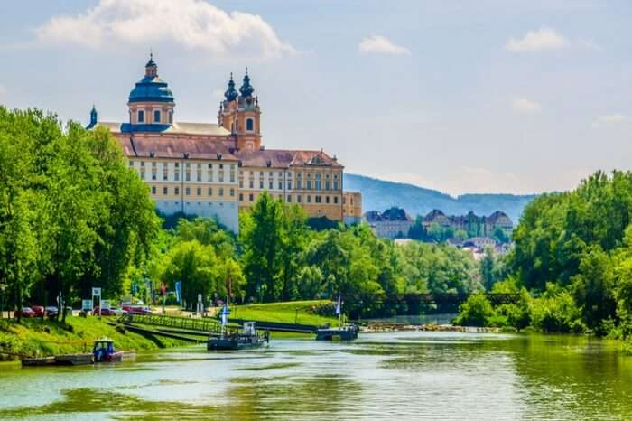 Melk Abbey as spotted from a boat