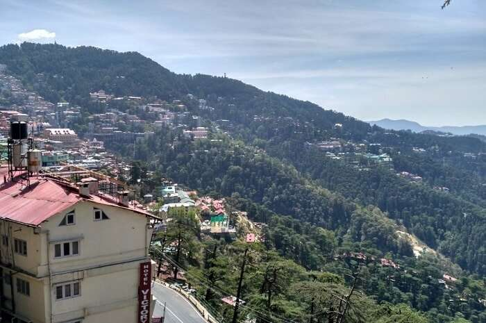 views from the ridge in shimla