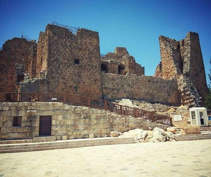 Ajloun castle in Jerash