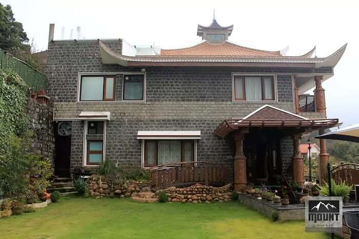 A snap of the exteriors of the Mount Chalet homestay in Kodaikanal