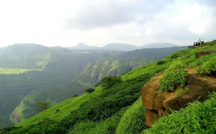 lush green Sahyadri mountains