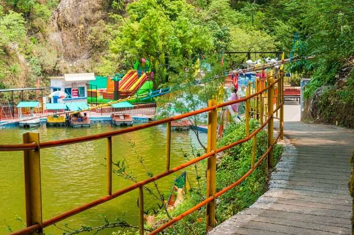 A snap of the Kempty waterfalls park in Mussoorie