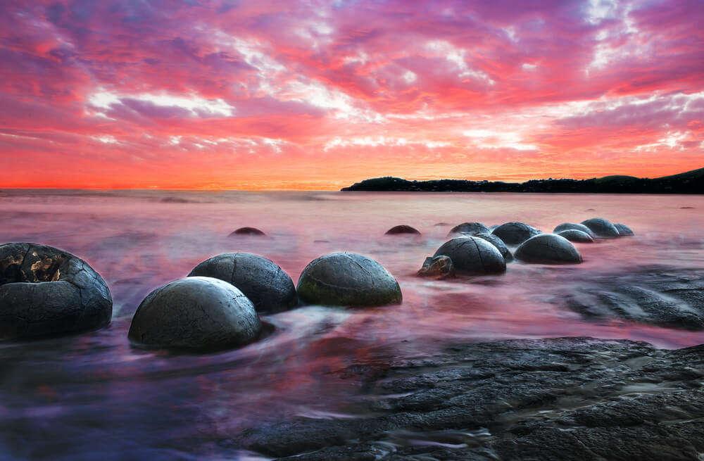 Moeraki Boulders on the shores