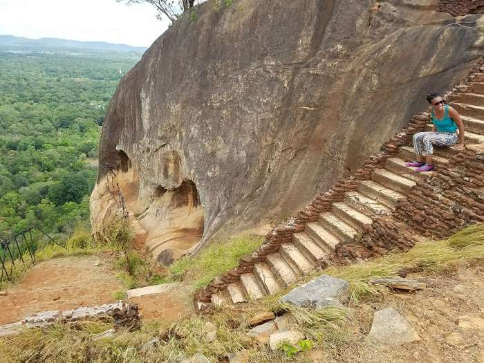 stairs of sigiriya rock fort