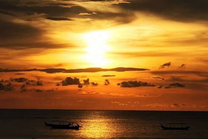 sunset on Bali beaches