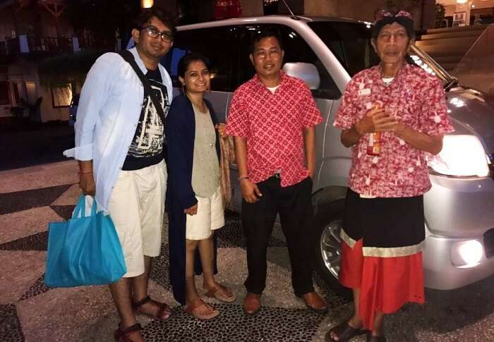 A Honeymoon Couple With Bali Locals
